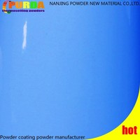 Mirror Gloss Light Blue Antimicrobial Powder Paint