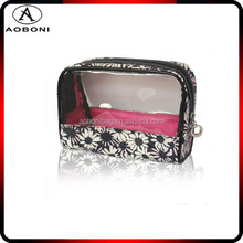 Wholesale Plastic Canvas PU Linging Printing Clean Cosmetic Bag for Lady