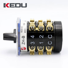 KEDU Changeover Switch 16A 250V Rotary Switch With UL TUV CE