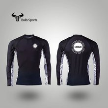Professional sublimation tight surf rash guard custom logo