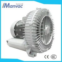 Made in china single stage 1.6kw 380V 250mbar sliver aluminium High Power Industrial Suction Regenerative Blower