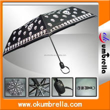 Fold up umbrella automatic safty plaid umbrella rain umbrella