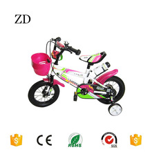 Hebei Zandi factory new style kids bike free cup popular 12 14 16 18 20 pink red blue green four wheel children bicycle