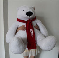 COCO COLA 1.5M Promotional huge plush bears give away gift toy