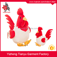 OEM services new design lifelike plush rooster, cock plush