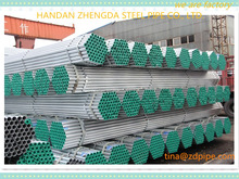 construction material galvanized round steel pipes