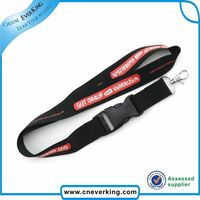 Custom sublimation plastic breakaway buckle key ring lanyard