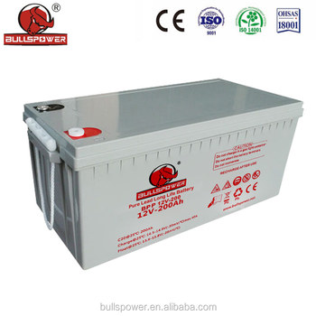 Higher reliability valve regulated 12V 200AH Pure Lead acid Long Life Battery