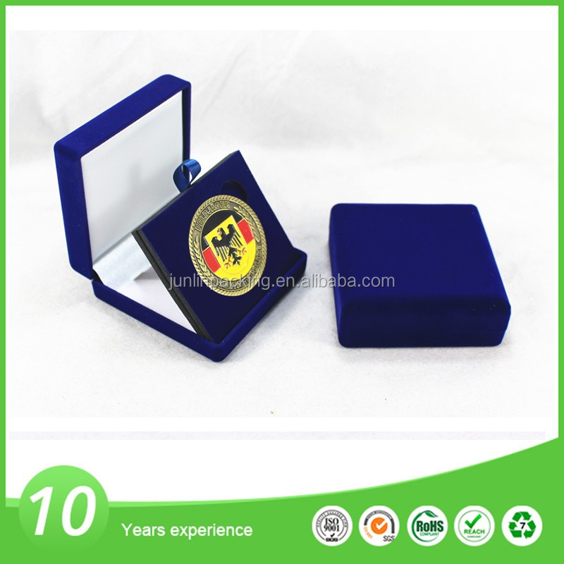 Custom design metal commemorative coin display box
