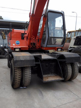 strong power EX100WD Hitachi wheel excavator used cheap excavators for sale