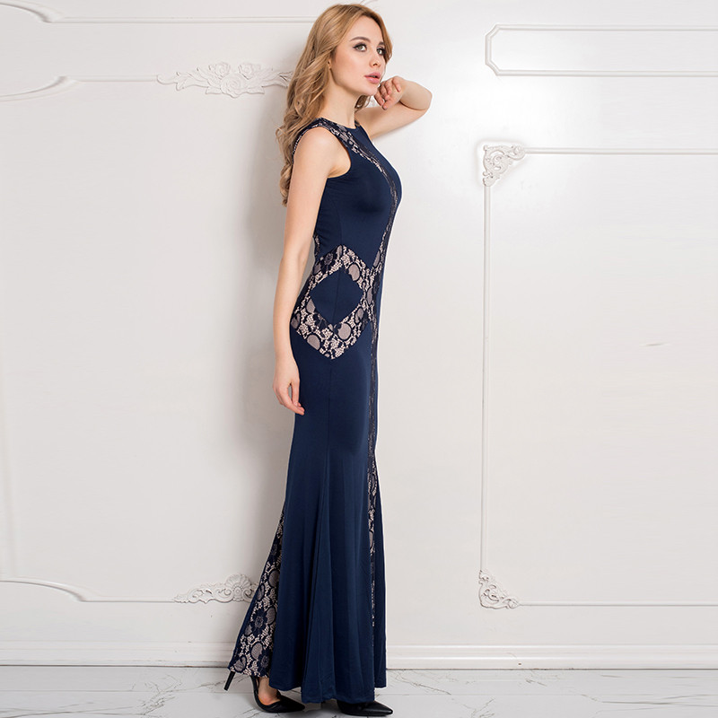 Lace Panel Pakistani Maxi Dress Sex