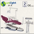 Dental chair with backrest air compressor water bottle