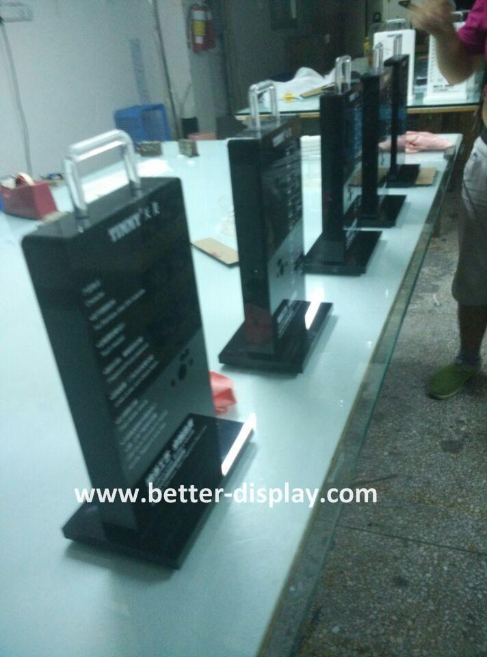 custom acrylic electronic lock servr rack for door lock