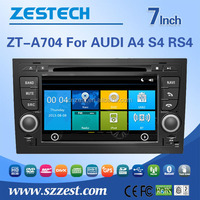 ZESTECH best selling car accessories For AUDI A4 R4 RS4 car audio navigation system wifi 3G, map, game. support Ipod, gps, AM/FM