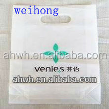 100% recycling reusable retail eco logo printed bag with plastic handle