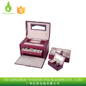 Hot sale luxury christmas gift leather jewelry package box