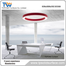 Manmade Stone Modern Conference Table Design for Office Furniture