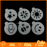 Cappuccino Coffee Stencil Cake Decorating Stencils Set