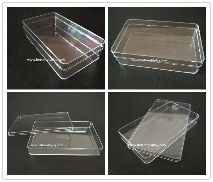 custom clear plastic watch packaging box luxury
