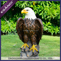 Custom outdoor polyresin eagle statue