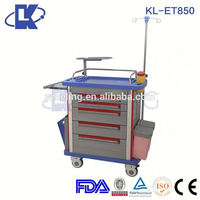 emergency service emergency trolley made in china abs plastic medical record holder