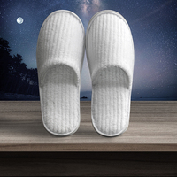 Factory supplier high quality custom logo disposable soft coral fleece hotel room slippers
