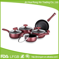 Soft touch handle nonstick induction cookware set