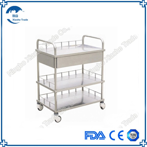 Wholesales stainless steel hospital carry trolley