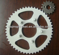 Dajin SAE1045 motorcycle rear and front sprocket with ISO certificate and OEM quality