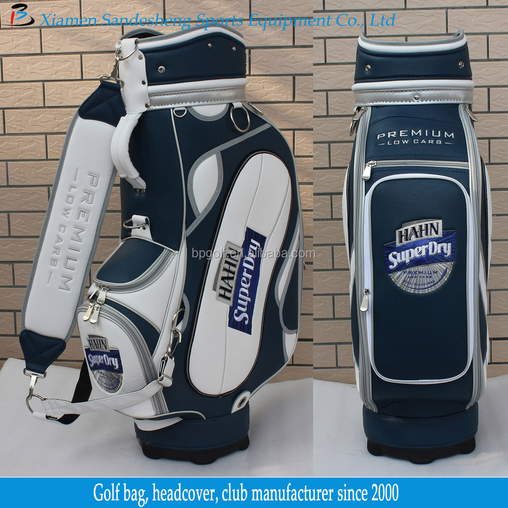 2015 Custom New Design Leather Golf Bags Manufacturer