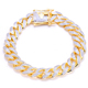 luxury micro paved zircon Hip hop chain cuban link gold chain bracelet in China manufacture