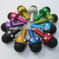 With Diamond Touch Pen Dust Plug for iPhone 5,iPhone 4,3GS,3G,iPad,Samsung Galaxy S2,3.5mm holds