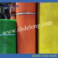 Colored plastic fence for agriculture and garden use