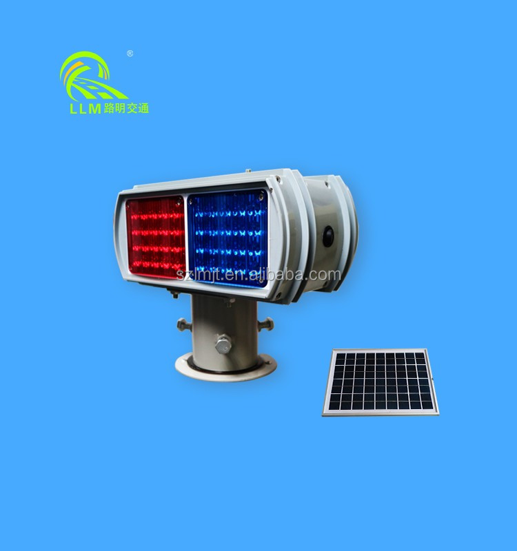 CE/ROHS high visibility double-sided LED blinking solar powered traffic light