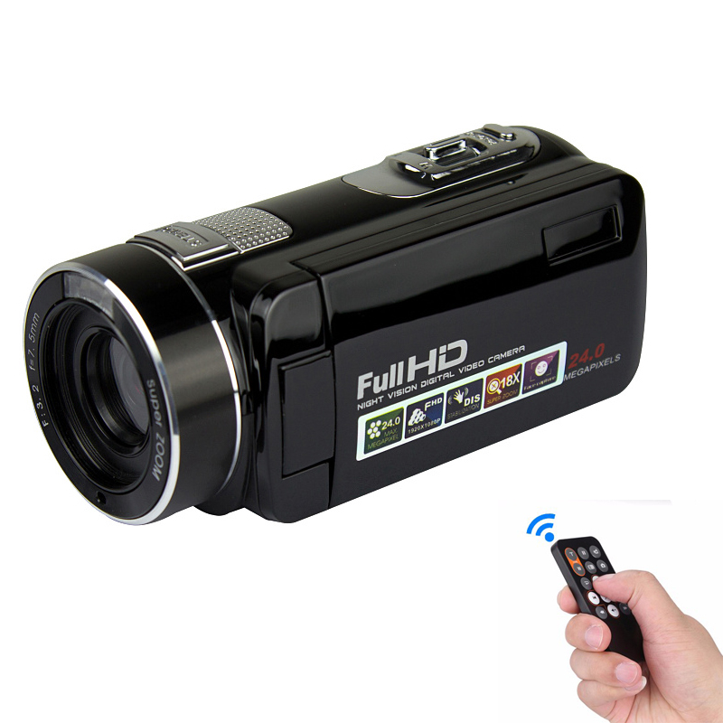 "F2 IR Red Night Shot Digital Video Camera Video Camcorder 3"" Screen 24Mp Resolution and 18X Zoom"