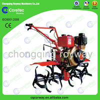 Gasoline power hand push rear tine garden tillers