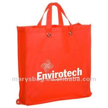 Reusable Non-Woven Polypropylene Folding Tote with Grommeted Handles