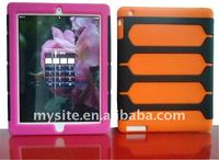 Hot Sale! Newest Cell Phone Silicon+PC Combo Case Covers for iPad 2