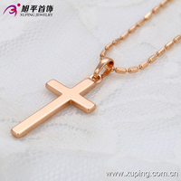 32389-China Xuping Fashion Cross Shape Pendant with the Rose gold Jewelry