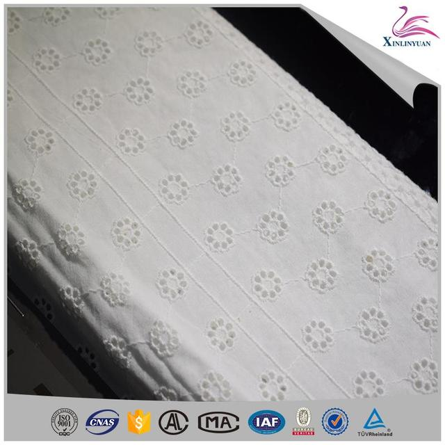 Popular embroidery cotton lace fabrics