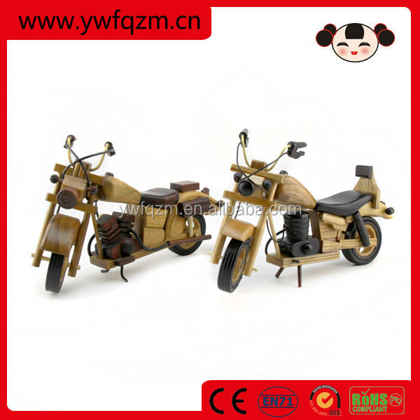 Handicraft Children Wooden Motorcycle Toy for Kids