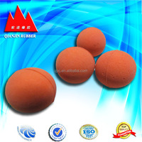 wholesale no-toxic solid rubber ball for dog