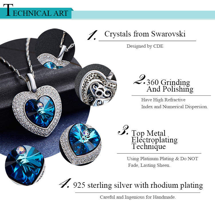 China supplier wholesale 925 sterling silver earring necklace jewelry set