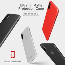 Rock Flexible Soft PP Frosted Matte Cover For iPhoneX Case Ultra Slim Protective Shield Shockproof For iPhone X Case Cover