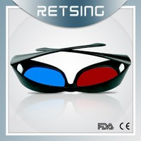 Promotional Thicken Lenses Plastic red blue or red cyan 3D Glasses for theater