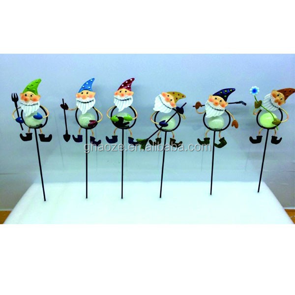 Garden Ornaments Iron Wire Metal Snowman Christmas Garden Stakes Factory