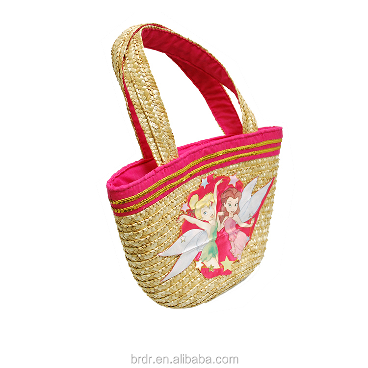 Children Tote Straw Bag