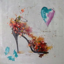 Abstract High-heeled Shoes oil painting