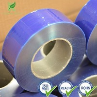 Manufacture Professional Plastic 52micron Polyethylene Blue Stretch Film