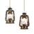 Vintage oil lamp Vietnam lantern balcony lamp antique metal lamp hemp industrial pendant light with edison bulb bar night light